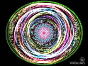 Black Spinning Swirl Print by Suzanne Simcox