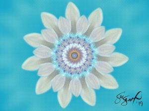 Blue Flower Card Print by Suzanne Simcox